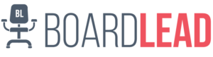 BoardLead Logo with Swivel Chair Icon