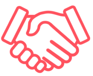 icon of two hands shaking hands